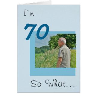 70.o Foto divertida del cumpleaños Tarjeta