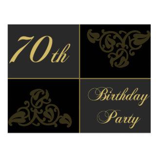 70.o Fuentes de la fiesta de cumpleaños Postal