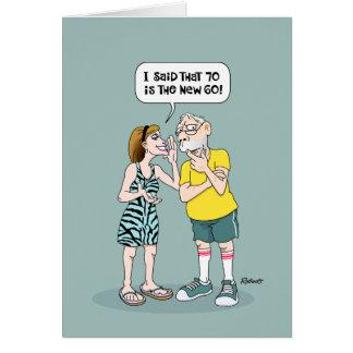 70.o humor de la tarjeta del cumpleaños de los