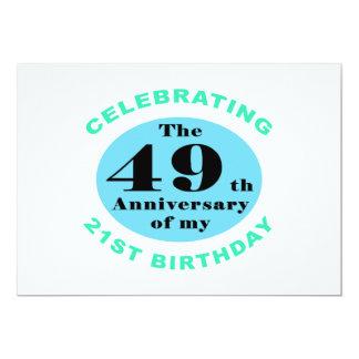 70.o Humor del cumpleaños Invitación 12,7 X 17,8 Cm