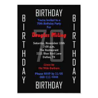 70.o Invitación 70 de la fiesta de cumpleaños