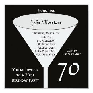 70.o Invitación 70 de la fiesta de cumpleaños en