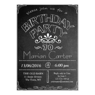 70.o Invitación de la celebración del cumpleaños