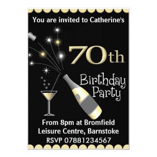 70.o Invitación de la fiesta de cumpleaños
