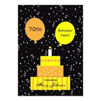 70.o Invitación de la fiesta de cumpleaños --