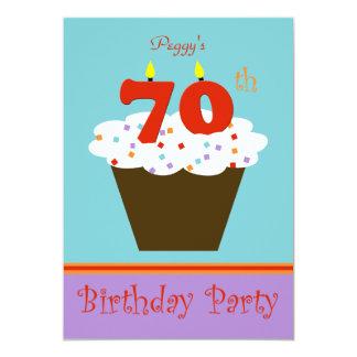 70.o Invitación de la fiesta de cumpleaños 70