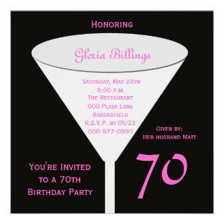 70.o Invitación de la fiesta de cumpleaños -- 70.o