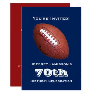 70.o Invitación de la fiesta de cumpleaños, fútbol