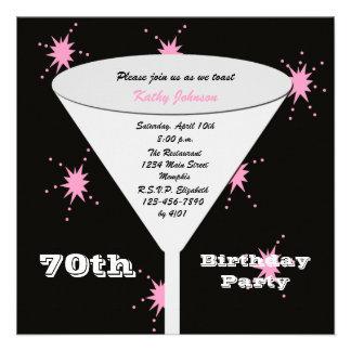 70.o Invitación de la fiesta de cumpleaños -- Piqu