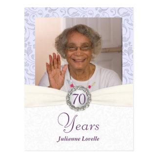 70.o Invitación del cumpleaños - muestra del damas Postal