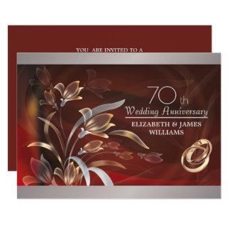 70.o Invitaciones de la fiesta de aniversario del Invitación 12,7 X 17,8 Cm
