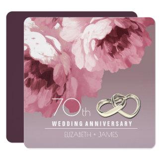 70.o Invitaciones de la fiesta de aniversario del Invitación 13,3 Cm X 13,3cm