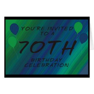 70.o La fiesta de cumpleaños invita a la tarjeta
