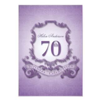 70.o Marco -2- del vintage de la celebración del Invitación 8,9 X 12,7 Cm