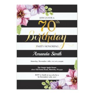70.o Mujeres de la invitación del cumpleaños.