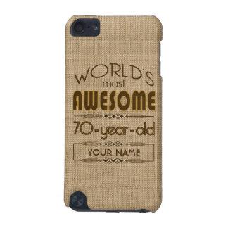 70.o Mundo de la celebración del cumpleaños mejor  Carcasa Para iPod Touch 5G