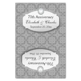 70.o Platino Z03 del aniversario de boda del Papel De Seda