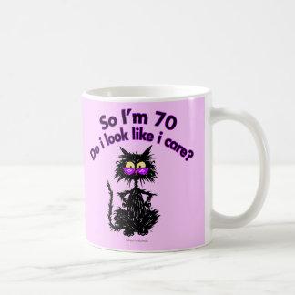 70.o Regalos del gato del cumpleaños Taza