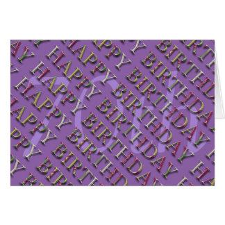 70.o Saludo del cumpleaños con las letras en el Tarjeta De Felicitación