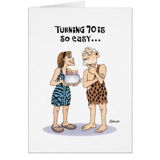 70.o saludo divertido del cumpleaños tarjetón