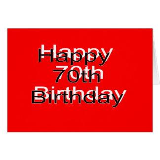 70.o Tarjeta de cumpleaños