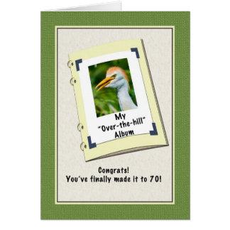 70.o Tarjeta de cumpleaños con el Egret de ganado