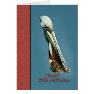 70.o Tarjeta de cumpleaños con el pelícano de Brow