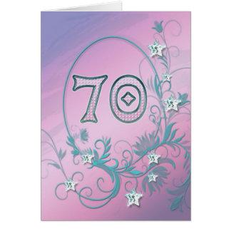 70.o Tarjeta de cumpleaños con las estrellas del