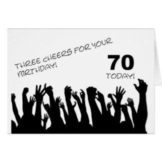 70.o Tarjeta de cumpleaños con las muchedumbres qu