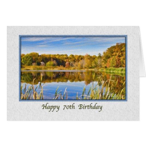 70.o Tarjeta de cumpleaños con reflexiones del lag