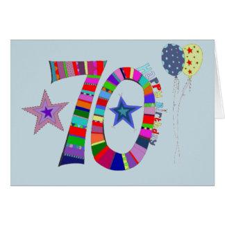 70.o Tarjeta de cumpleaños feliz del cumpleaños