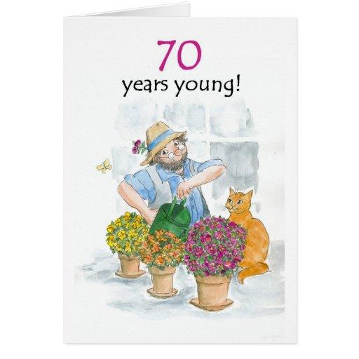 70.o Tarjeta de cumpleaños - jardinero