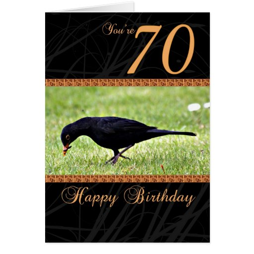 70.o Tarjeta de cumpleaños - mirlo