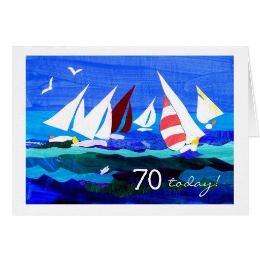 70.o Tarjeta de cumpleaños - navegación