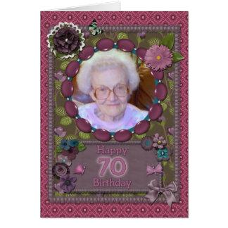 70.o Tarjeta de la foto para un cumpleaños