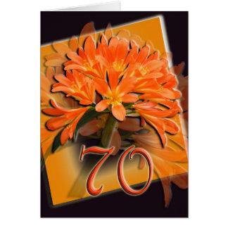 70.o Tarjeta del feliz cumpleaños