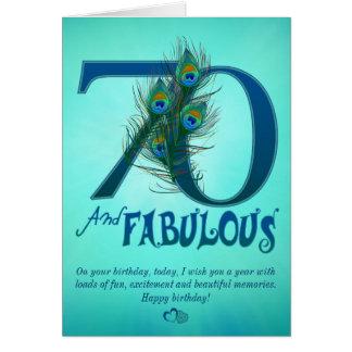 70.o Tarjetas de la plantilla del cumpleaños