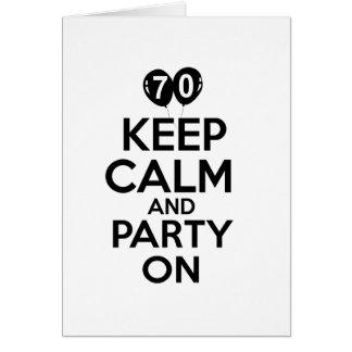 70 os diseños años del cumpleaños tarjetón