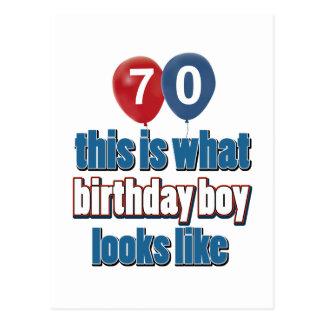 70.os diseños años del cumpleaños postales