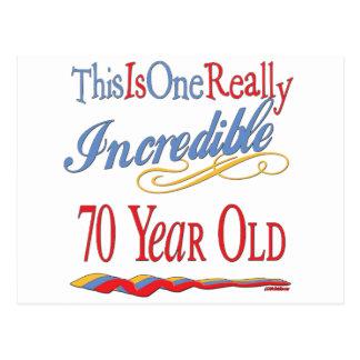 70.os regalos de cumpleaños de la diversión tarjeta postal