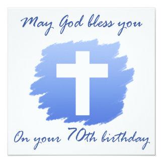 70.os regalos de cumpleaños del cristiano invitación 13,3 cm x 13,3cm