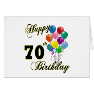 70.os regalos de cumpleaños y ropa felices del cum tarjeta de felicitación
