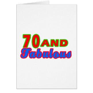 70 y diseños fabulosos del cumpleaños tarjeta de felicitación