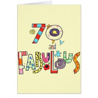70 y fabuloso - 70.o cumpleaños feliz tarjeta