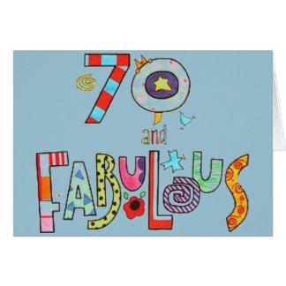 70 y fabuloso - 70.o cumpleaños feliz tarjeta de felicitación