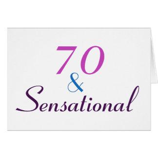 70 y sensacionales personalizan la 70.a tarjeta de