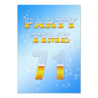 71.a invitación de la fiesta de cumpleaños con las