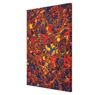 #725 abstracto impresión en lienzo