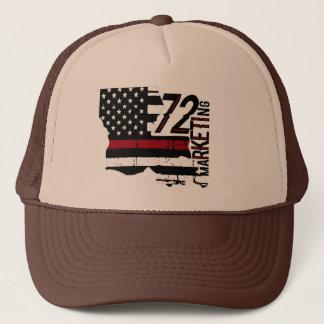72marketing enrarecen la línea roja gorra Luisiana