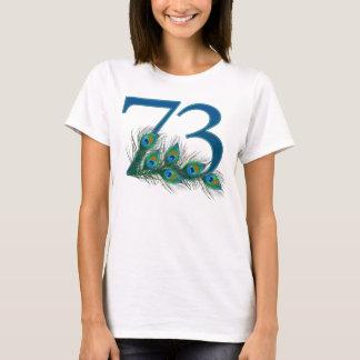 73/73.a camiseta del cumpleaños o del aniversario